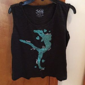 Girls Justice glitter Gymnast tank top